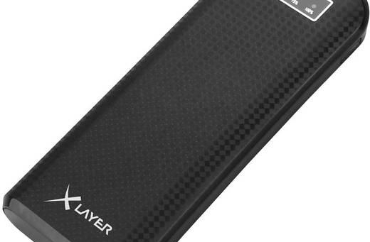 Xlayer-ECOLine-Carbon-Black-Powerbank-(Zusatzakku)-Li-Ion-15000-mAh